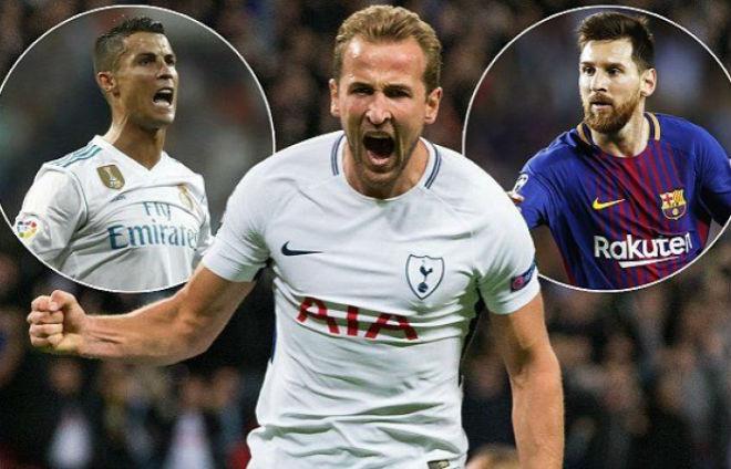 Harry mới là cái tên chính khiến Ronaldo và Messi lo ngại