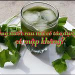Tìm hiểu chi tiết về lợi ích và tác hại khi uống nước rau má