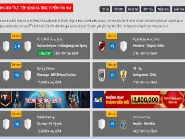 Mitomtv.com web xem trực tiếp bóng đá kèo nhà cái