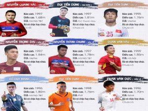 Tổng hợp thông tin chiều cao các cầu thủ U23 Việt Nam
